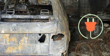 Laddning av elbil brand